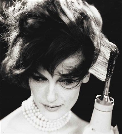 mary jane russell testing beauty tools (fashion study) (2 works) by william klein