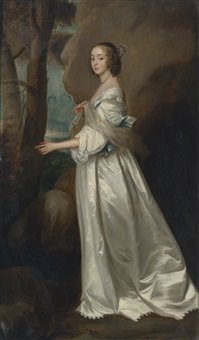 portrait of frances cranfield, lady buckhurst, later countess of dorset by sir anthony van dyck