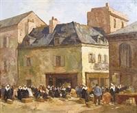 marché à concarneau by robert yan