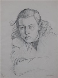 portrait of a young woman by irmin henkel