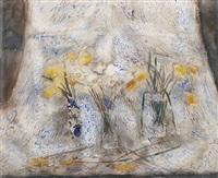 daffodils in the window by norman adams