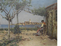 sitting in the shade overlooking chioggia by frederick william jackson