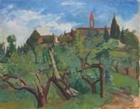 paesaggio toscano by achille funi