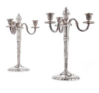 plate candelabra (pair) by christofle (co.)