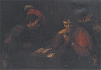 card sharps by jean valentin (de boulogne)