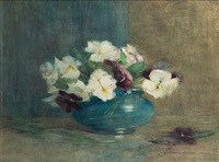 a bowl of pansies by constance walton