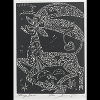 white deer (bk w/text by shigeto oshida, 19 works) by joseph domjan