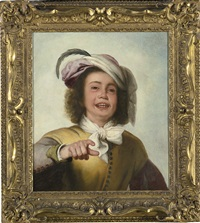 a young boy in a buff doublet with white cravat by bartolomé esteban murillo