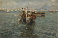 marina con barca di pescatori by emmanuele costa