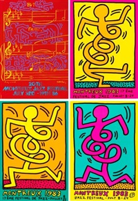 festival de montreux (4 works) by keith haring and andy warhol