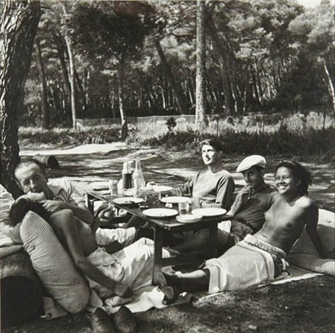 picnic nusch and paul eluard roland penrose man ray and ady fidelin île sainte marguerite cannes frances by lee miller