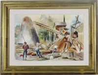 working the saw mill by barse miller