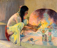 the kachina maker by eanger irving couse