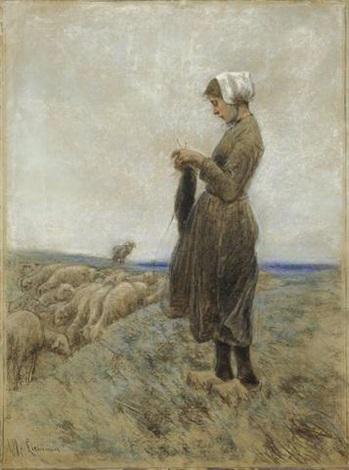 holländisches hirtenmädchen by max liebermann
