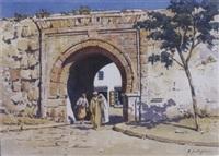 devant la porte de la ville, tunis by michele cortegiani