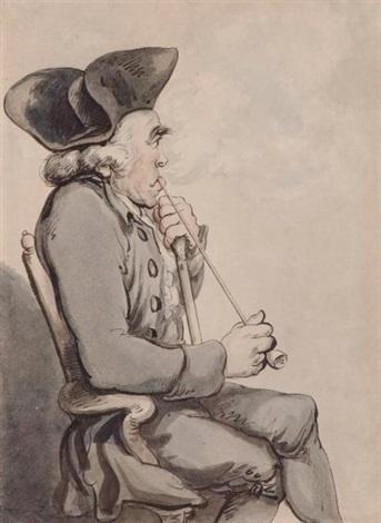 portrait de profil de herren van den noot botaniste by thomas rowlandson