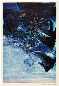 etching with aquatint by zao wou-ki
