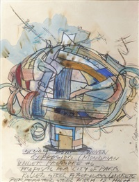study for woven explosion by dennis oppenheim