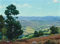 view over ellenville, new york by charles courtney curran