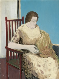 lady with a shawl by benny andrews