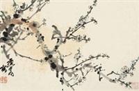 梅清 镜心 设色纸本 by huang zhou