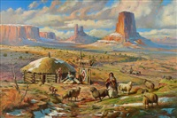 navajo spring by william harry (bill) ahrendt