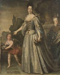 portrait de marie adelaïde de savoie duchesse de bourgogne by jean-baptiste santerre