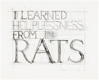 i learned helplessness from rats by bruce nauman