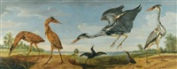landscape with pairs of herons and bitterns by paul de vos and jan wildens