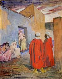 scène orientaliste, tlemcen by lucien simon