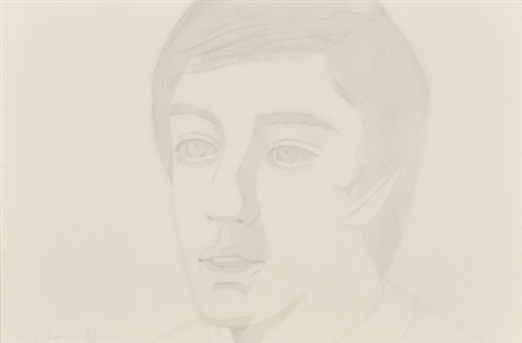 vincent with open mouth by alex katz