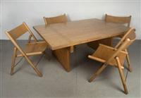 tisch mit vier stühlen (set of 5) by otl aicher