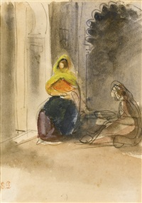 a jewish woman in an interior by eugène delacroix