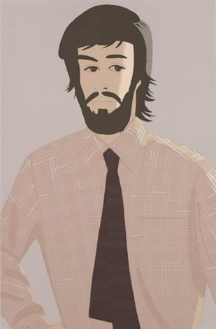 plaid shirt i and ii 2 works by alex katz