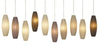 set of ten hanging lights by jeff zimmerman