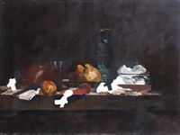 still life on brown background by eti yacoby