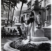 cindy crawford admired, monte carlo for american vogue by helmut newton
