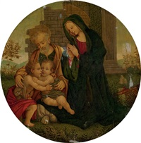 the holy family with the infant saint john the baptist by filippo (filippino) lippi