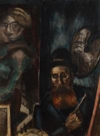 autoportrait présumé dans l'atelier by henri le fauconnier