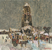 vue hivernale by albert saverys