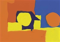 sharp violet and blue in orange and yellow: may by patrick heron