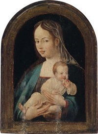 madonna mit dem einen apfel haltenden kind by jan van scorel