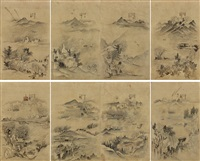 landscape (8 works) by anonymous-korean