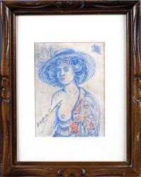 portrait de femme dénudée by hermenegildo anglada camarasa