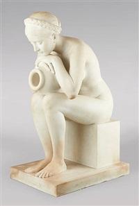 jeune femme nue à la source by donatello gabbrielli