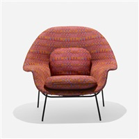 prototype womb chair by eero saarinen