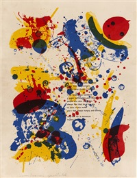 water buffalo by sam francis