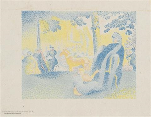 in den champs élysées from pan by henri edmond cross