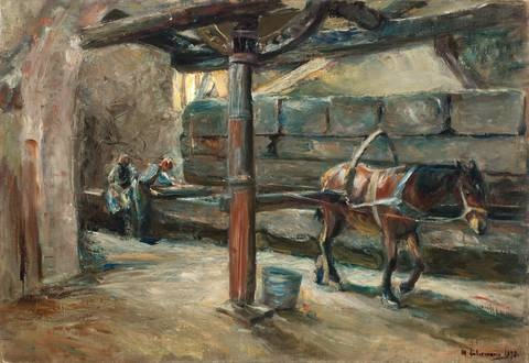 tuchwalke in florenz by max liebermann
