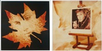 cartes de voeux (autoportraits) (2 works) by andreas mahl